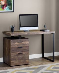 Home Office Furniture: Choosing The Right Computer Desk Home Office Furniture Design, Home Office Design, Home Office Decor, Computer Desk Design, Computer Desks, Computer Desk In Bedroom, Floating Computer Desk, Industrial Computer Desk, Simple Computer Desk