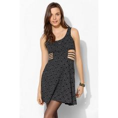 Sparkle & Fade Side-Cutout Mini Dress Uo