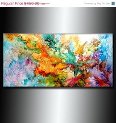 Don't know why, but I'm attracted to abstract paintings like this - and I want to creat them too