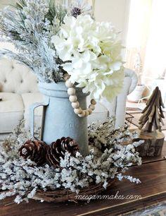 Winter Decor For The Living Room - What Meegan MakesEmailFacebookGoogle+InstagramPhonePinterestStumbleUponTwitter