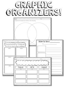 Education to the Core: Community Helpers Printable Unit: FREE Graphic Organizers for Community Workers Writing!!!