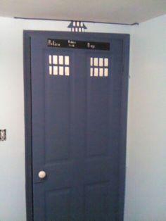 Megan's room redo tardis door