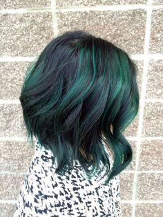 killerhairstyles:  TRANSFORMATION: Pretty and Fun Dimension With Peacock Green | Modern Salon