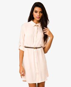 Forever 21 Платье-рубашка с поясом