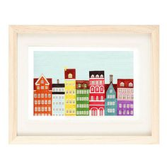 COPENHAGEN DENMARK  5 x 7 Colorful Illustration Art by annasee
