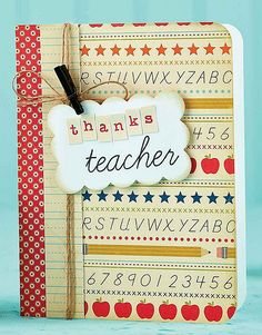 Thanks Teacher Card by @Teri Anderson