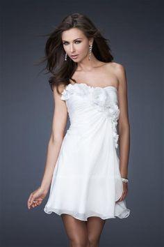 #LaFemme #ShortDress #WhiteDress #Homecoming 16173 at Prom Dress Shop