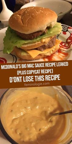Big Mac Sauce Rezept, Mcdonald's Big Mac Sauce Recipe, Homemade Big Mac Sauce, Homemade Recipe, Big Mac Special Sauce Recipe, Burger Sauces Recipe, Sauce Recipes, Beef Recipes, Cooking Recipes