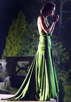 Atonement: This emerald green silk dress from the infamous library scene in Atonement sparked high street copycats the world over, and also contributed to costume designer Jacqueline Durran being nominated for an Academy Award.    FACT: Whilst Durran lost out on the Academy Award, the dress was voted the best costume of all time by Sky Movies.uk/fashion/45-iconic-fashion-films#item-1