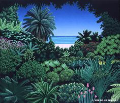 The cover art for playstation game Notam of Wind and some other pieces by the same artist: Hiroshi Nagai