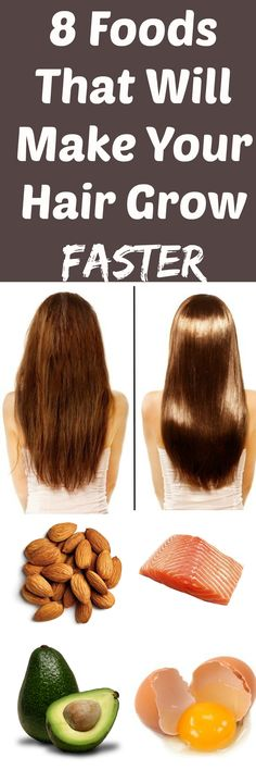8 foods that will make your hair grow faster in under a month!