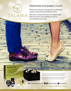 These cute little flats are perfect for dancing the night away! They're also perfect wedding favors. @TalariaFlats #talariaflats