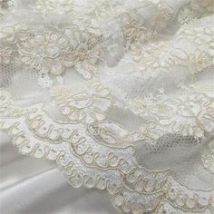 CORDED BELGIAN VISCOSE LACE 1 edge from 60 Uk Pounds