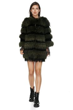 Luxurious and timeless khaki fox fur coat with full length sleeves that will stay in your wardrobe forever and compliment any outfit you choose during the chilly season. Grey Fur Coat, Fox Fur Coat, Fox And Rabbit, Grey Fox, Jackets Online, Festival Outfits, Full Sleeves, How To Wear, Festive