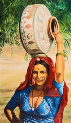 Buy Life of Rajasthan 5 by Community Artists Group@ Rs. - Shop Art Paintings online in India. Indian Women Painting, Indian Art Paintings, Indian Artist, Indian Artwork, Bollywood Stars, Rajasthani Painting, Buy Paintings Online, Composition Painting, Devian Art