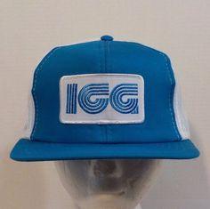 ICG VTG Snapback Baseball Truckers Hat Cap 1980s #Debronis #Trucker