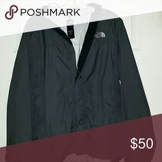 Gray North Face Men's raincoat Some peeling in top of jacket at hood crease North Face Jackets & Coats Raincoats