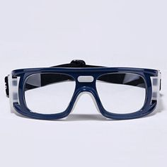 970cdb61cad Mens Basketball Goggles Protective Eyewear Blue Wrap Frame Clear Lens