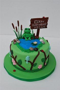 birthday cakes with nature and farm simple | photo