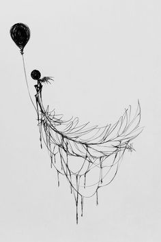 "I Give Mental Illness A Voice Through My Drawings Rise ""Take to the sky defy fear and try to spread those wings and dare to fly. Dark Art Drawings, Tattoo Drawings, Body Art Tattoos, Tatoos, Spine Tattoos, Leaf Tattoos, Geniale Tattoos, Grafiti, Arte Horror"