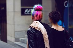 Rainbow Hair - desperate for my hair to look like this ^_^