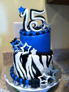 Want This Cake On My Birthday Party So Pretty Th Pinterest - 15 year birthday cake