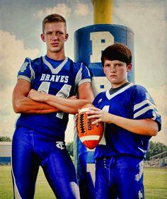 brothers sports football portrait high school