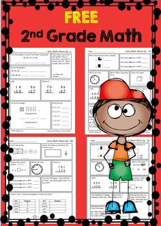 Second Grade Math Worksheets--great for homework or morning work--click on preview for your FREE sample pages