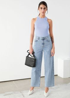 & Other Stories - Gia Coppola Loose Fit Jeans, High Waist Jeans, Crop Jeans, Blue Jeans, Beatnik Style, Outfits Mujer, Jean Outfits, Fall Outfits, Summer Outfits