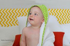 Have a baby on the way? Want to give a special baby shower present? Make this one of a kind hooded towel today!