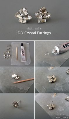 DIY Crystal Cluster Earrings