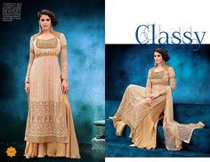 Magic beige lehenga choli gown