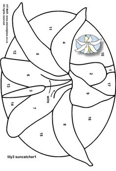 Free Stained Glass Patterns Flowers | Garden Flowers Stained Glass Patterns