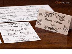 Printable Wedding Escort Card Template  Instant by VSstudio