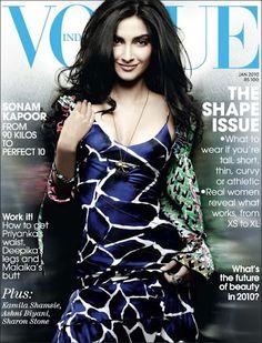 Sonam's hot cleavage photoshoot on vogue