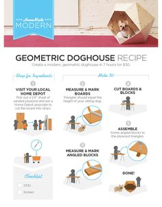 Easy Geometric Doghouse // 5 Home Depot Hacks