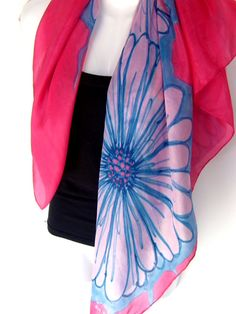 Check out this item in my Etsy shop https://www.etsy.com/listing/180403878/hand-painted-silk-scarf-floral-silk
