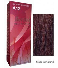 Berina Hair Color Cream Permanent A12 -Red Violet Blonde color -- Visit the image link more details.