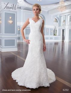 Lillian West wedding dress #6292 at Glamourous Gowns.