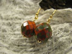 """earrings """" colorful"""" glassbeads"""