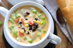 Black Bean Corn Chowder via @honeyandbirch