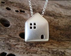 House  Necklace Sterling Silver House Pendant Home Necklace Gift for Her minimal Necklace Birthday Gift valentine pendant holiday jewelry