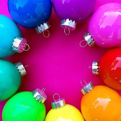 Rainbow ornaments! Are you guys decorating today?  (: @janecan_) #ABMholidayspirit