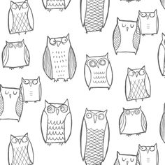 A sample of this would be adorable framed up in the #livingroom. It's part of the Night Owl collection.