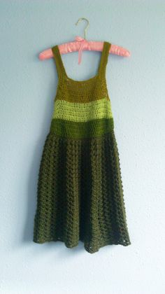 Crocheted Simple A-Line Dress