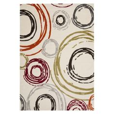"Safavieh Circles Area Rug... 5'3""x7'7"" or 6'7""x9'6"".......Target  $299.99 - $529.99"
