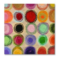 "Melanie Rothschild rocco, acrylic paint on wood, 18"" x 18"""