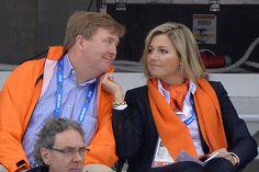 Los Reyes de Holanda apoyan a los deportistas de su pais, durante las Olimpiadas de Invierno en  Sochi.  Febrero 2014.   -lbk-