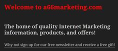 Sign up for our newsletter and get a free gift!  #freegift #gift #money #makemoney #makemoneyonline #a66marketing