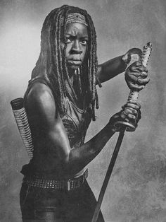 the-walking-dead-6-temporada-silver-portrait-danai-gurira-michonne